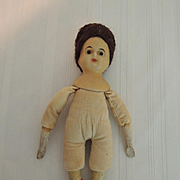 Wax Shoulder Head Doll with Glass Eyes