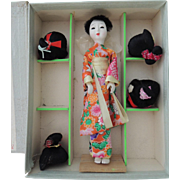 Katsuraningyo Boxed Doll with Wigs