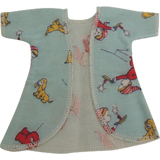 """Vogue Ginny """"Wee Willie Winkie"""" Flannel Robe from Frolicking Fables Series"""