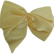 Lovely Large Yellow Satin Bow for Vogue Ginny