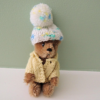 Miniature Jointed Mohair Schuco Teddy Bear