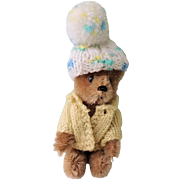 Miniature Jointed Mohair Schuco Teddy Bear