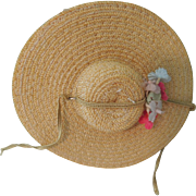 Lovely Yellow Horsehair Hat for Cissette and Fashion Dolls of the 1950's