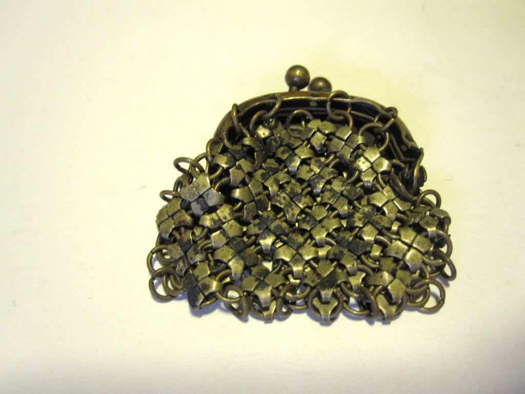 Antique Metal Mesh Purse Perfect for that German or French Doll