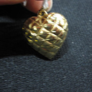 Puffy Heart for Bracelet Charm or Pendant Necklace