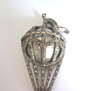Antique French Hot Air Balloon Pin
