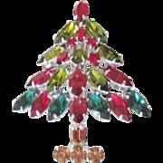 Designer Vintage costume Jewelry Napier Christmas Tree Brooch