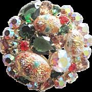 Juliana D & E Easter Egg Brooch Pin