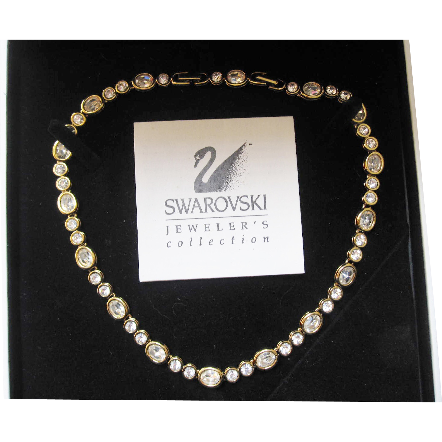 Swarovski crystal necklace choker like new with original box and papers.