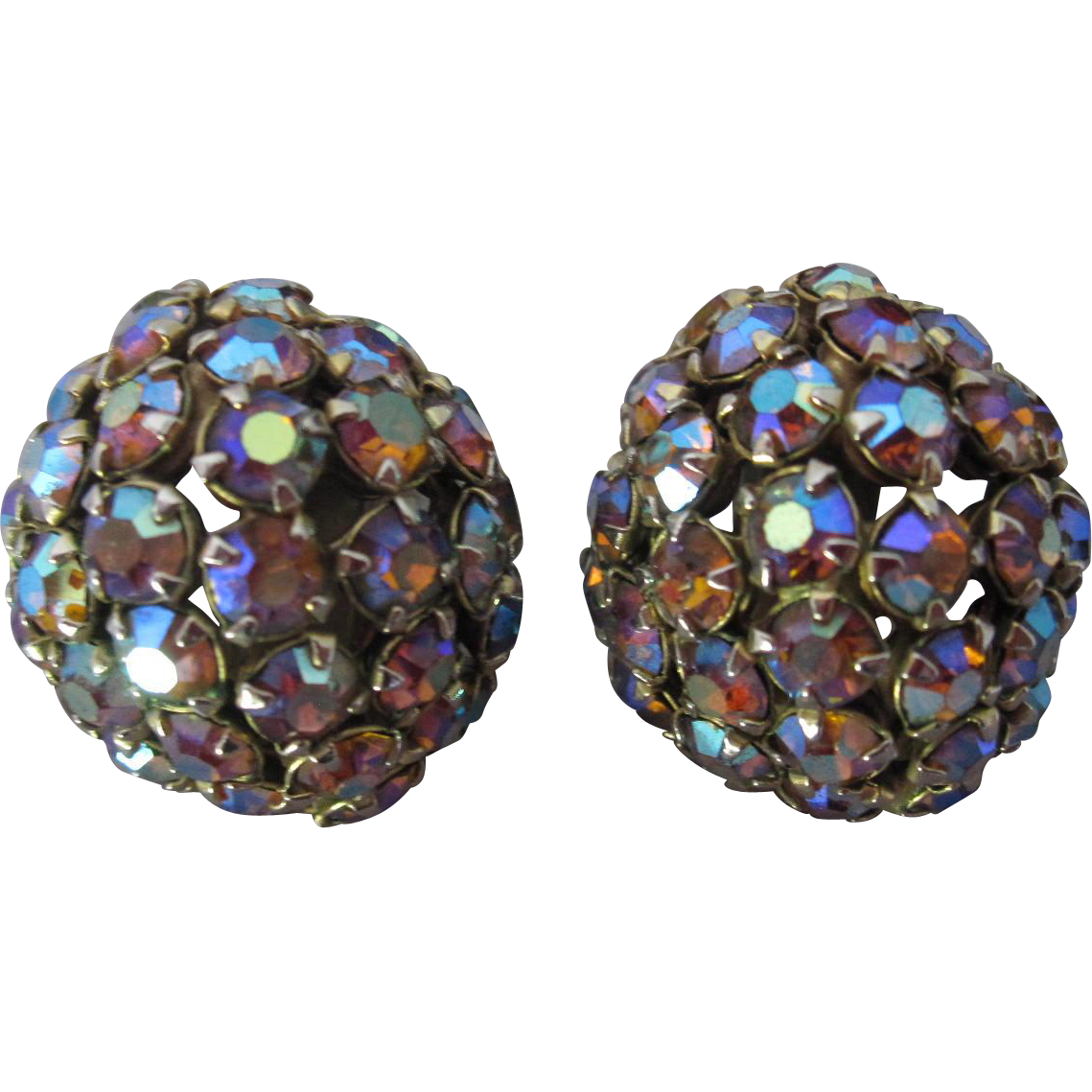 Warner Blue Raspberry Dome Earrings