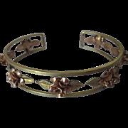 Krementz rose and yellow gold gilded rose bracelet