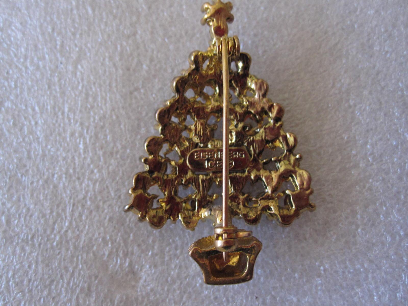 Eisenberg Ice Christmas Tree Brooch from Collection from ...