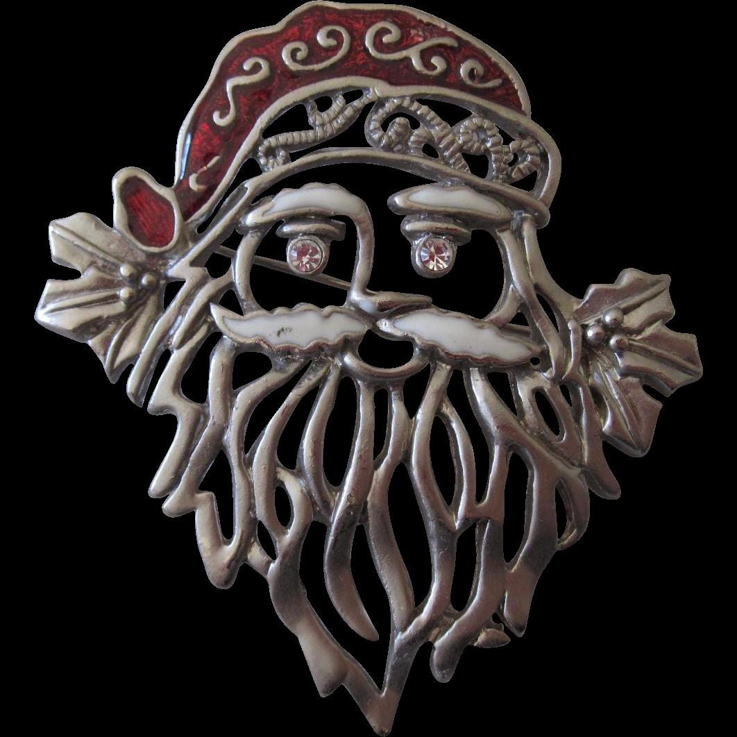 HO HO HO!! Santa Claus Christmas Pin