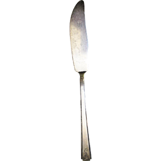 Sterling Silver Flatware Modern Classic RLB Lunt MASTER BUTTER KNIFE 36.2g Mono