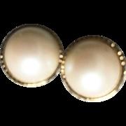 NINA RICCI elegant Faux Pearl Ear Clips