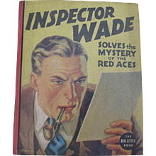 Inspector Wade of Scotland Yard Mystery of The Red Aces Big Little Book Comic 1937 Children's
