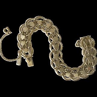 Monet charm bracelet starter goldtone