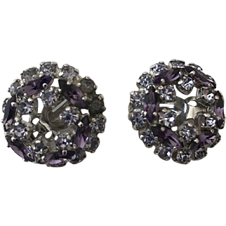 Hard to Find Designer Signed Sherman Dazzling Jeweled Earrings