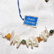 Signed Hattie Carnegie Natural Shell Necklace