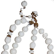 Haskell multi strand glass necklace with filigree findings