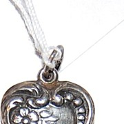 Puffy Sterling Heart Charm