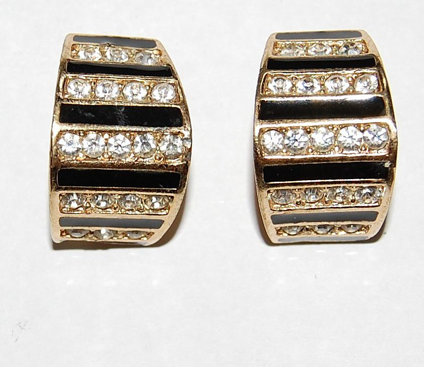 Signed Christian Dior Germany Sparkling Earrings