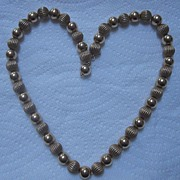 Gorgeous antique beaded necklace 14K gold