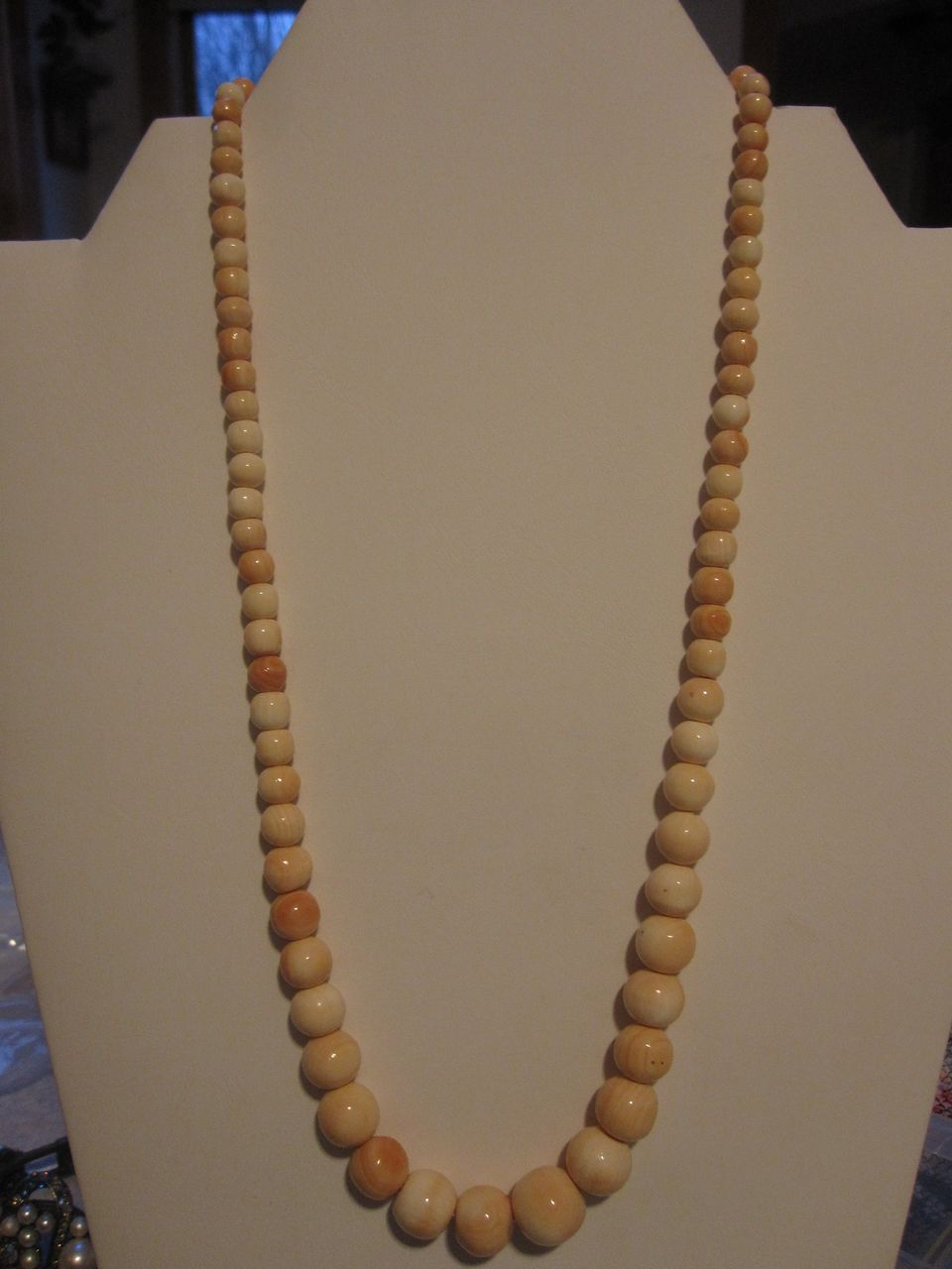 Vintage angelskin coral necklace