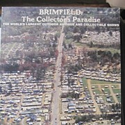 Unusual 1st edition Brimfield Mass antiques collectors guide book