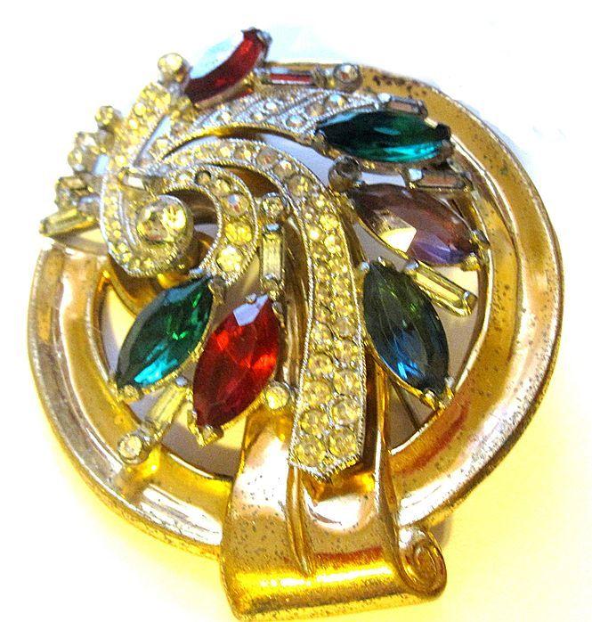 Art Deco Era McClelland Barclay Pin, unique design