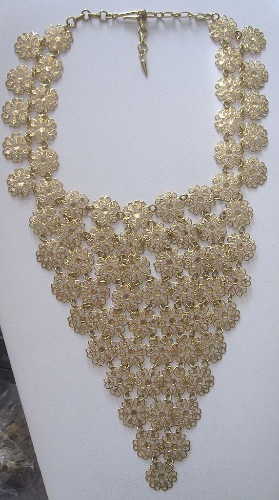Vendome Costume Jewelry bib Necklace