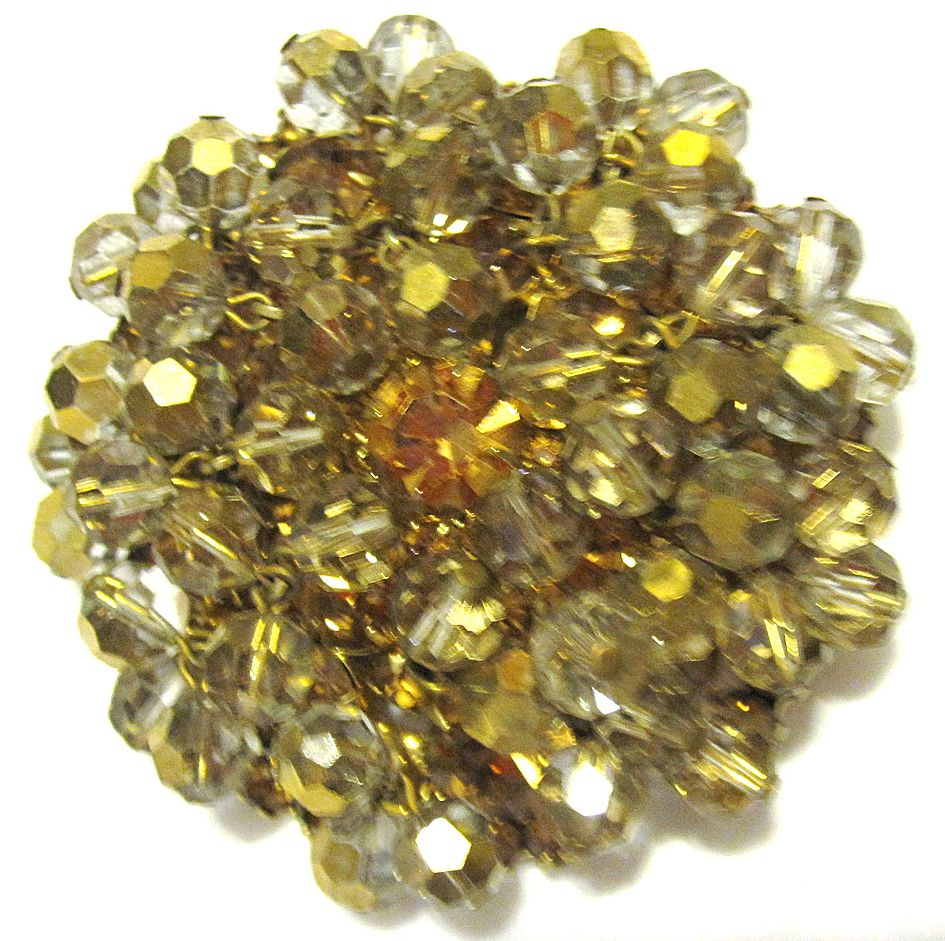 BIG Juliana crystal and rhinestone 3-D pin