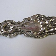 Sterling Silver Whiting Company Lily Art Nouveau Serving Fork