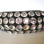 Dazzling Black Clamper Rhinestone Bracelet