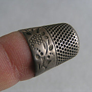 Sterling 1892 Thimble