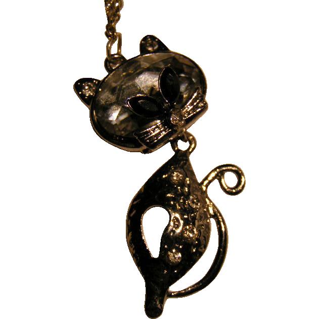 Retro Stylized Pussycat pendant