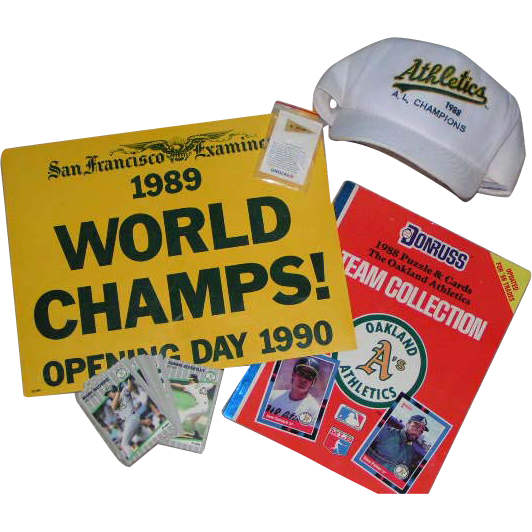 Oakland A's 1988-89 World Series Champs collector lot