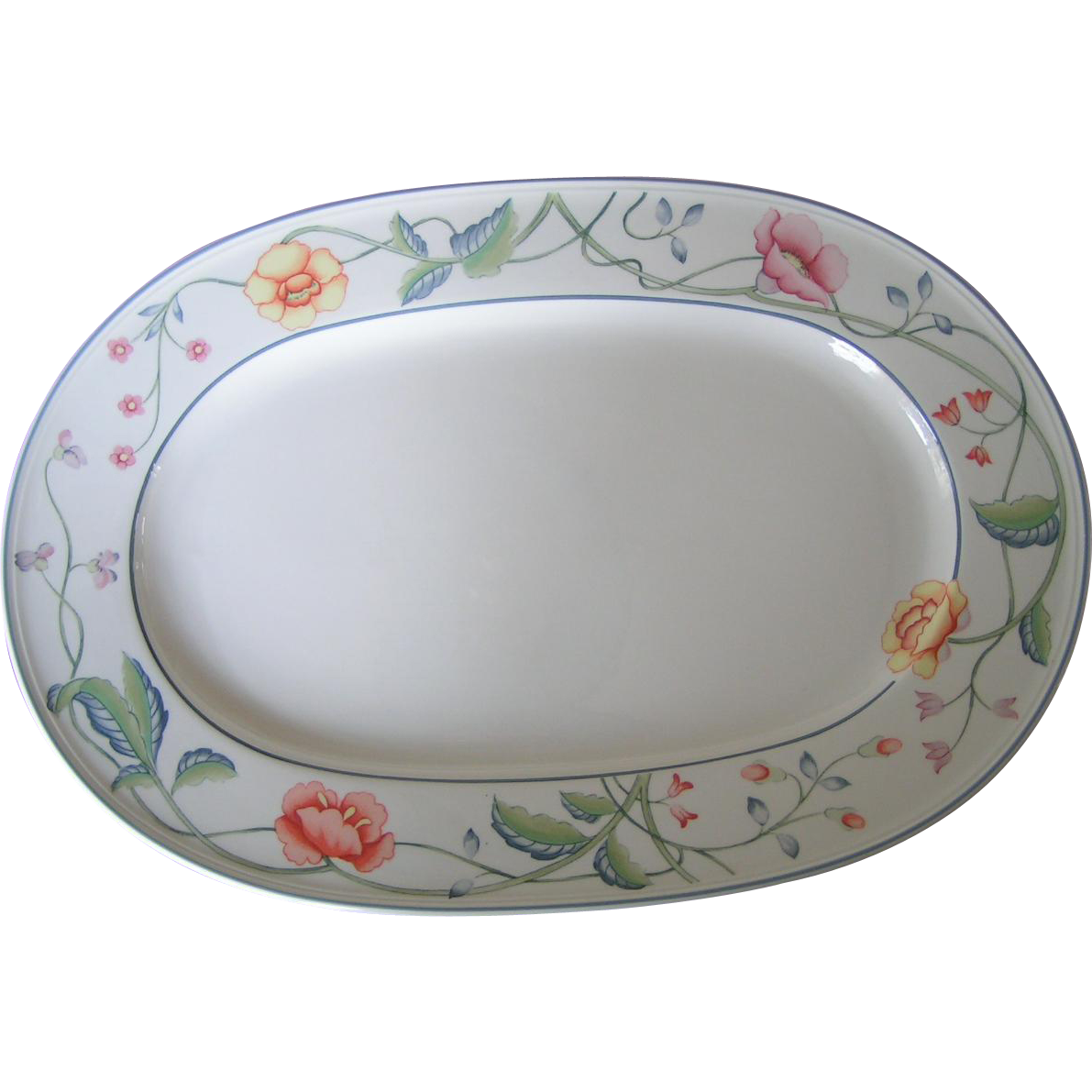 villeroy boch large albertina platter from thefoundobject on ruby lane. Black Bedroom Furniture Sets. Home Design Ideas