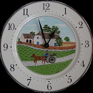 Villeroy & Boch Laplau Porcelain Naif Clock