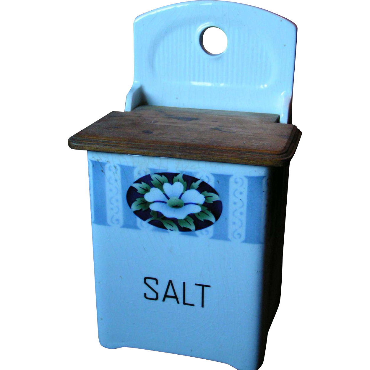 Lidded Salt cellar; uncommon German box form