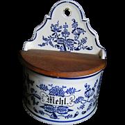 German Mehl (flour) Crock, kitchen box - Red Tag Sale Item