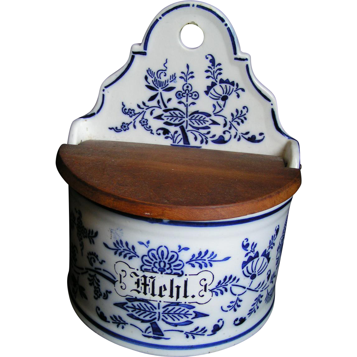 German Mehl (flour) Crock, kitchen box
