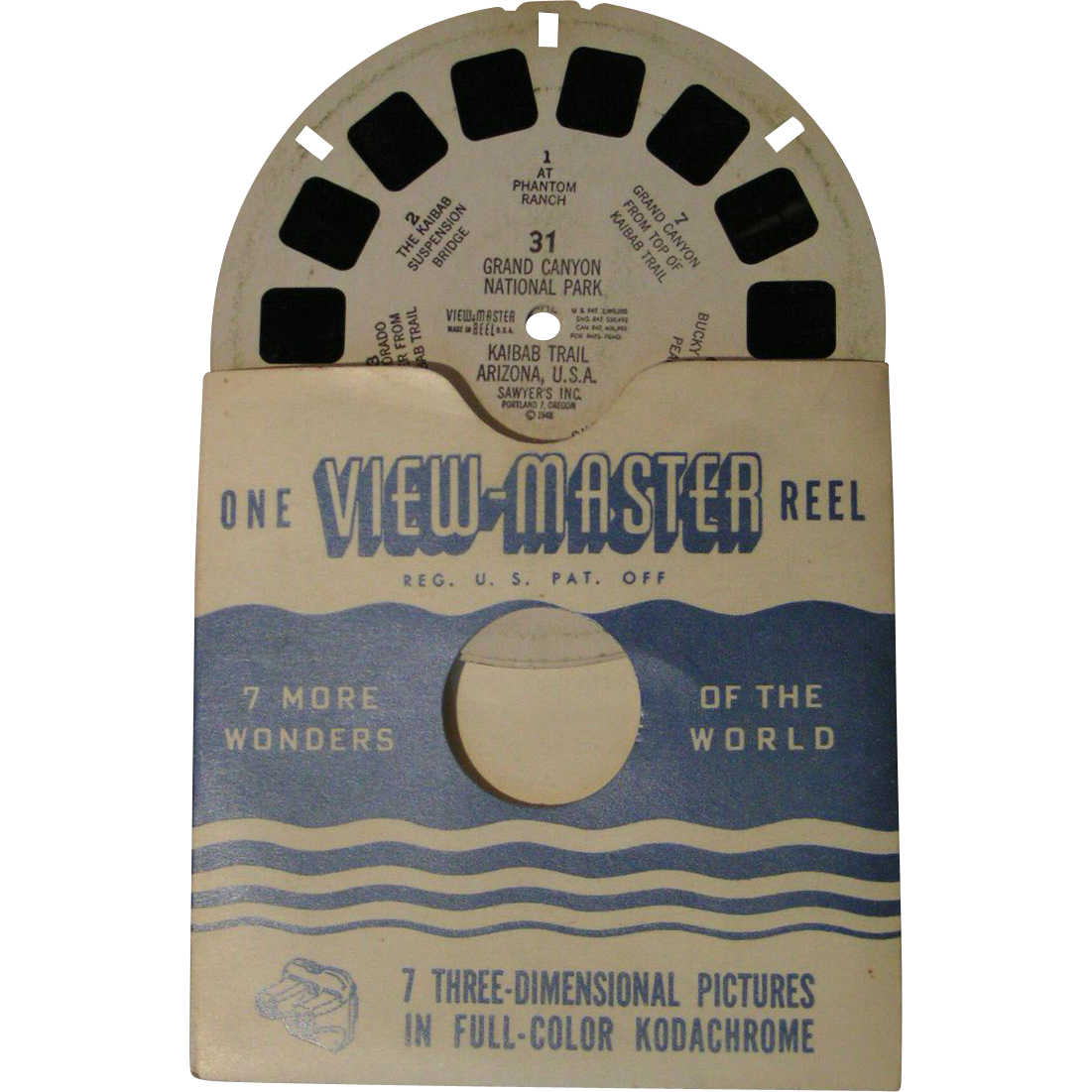 Viewmaster Reels; Celebrated places, cities; large lot