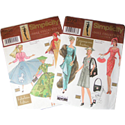 Simplicity 1940s and 1950s Doll dress patterns