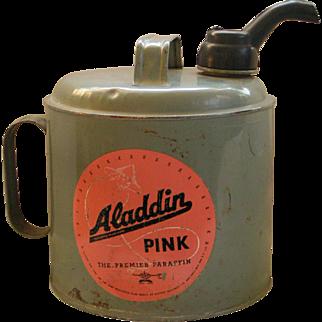 "Aladdin ""Pink"" paraffin can"