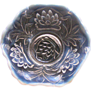 Fenton berry bowl; opalescent ruffle edge