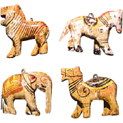 Miniature Circus Animals -- hand carved, painted