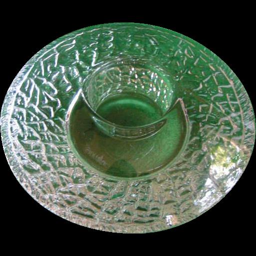 Unusual Orrefors Crystal Candle Corona
