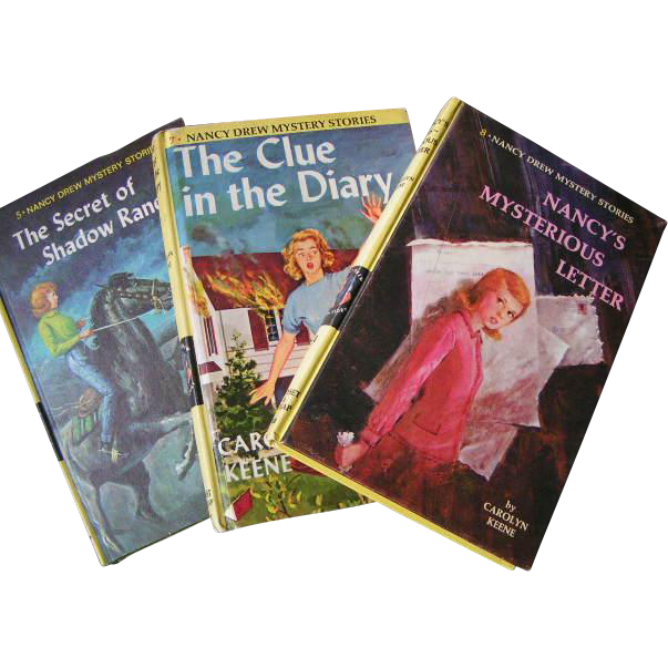 Nancy Drew THREE 1960's volumes; very clean