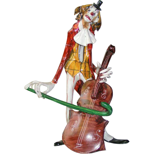 Porcelain Italian Clown Characature Sculpture